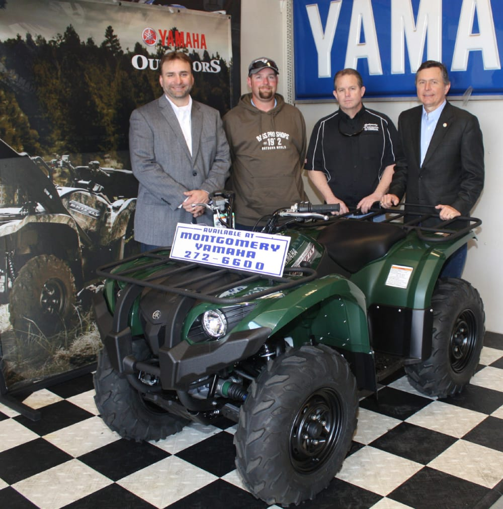 Outdoor alabama sweepstakes awards four wheeler gift for Yamaha montgomery al