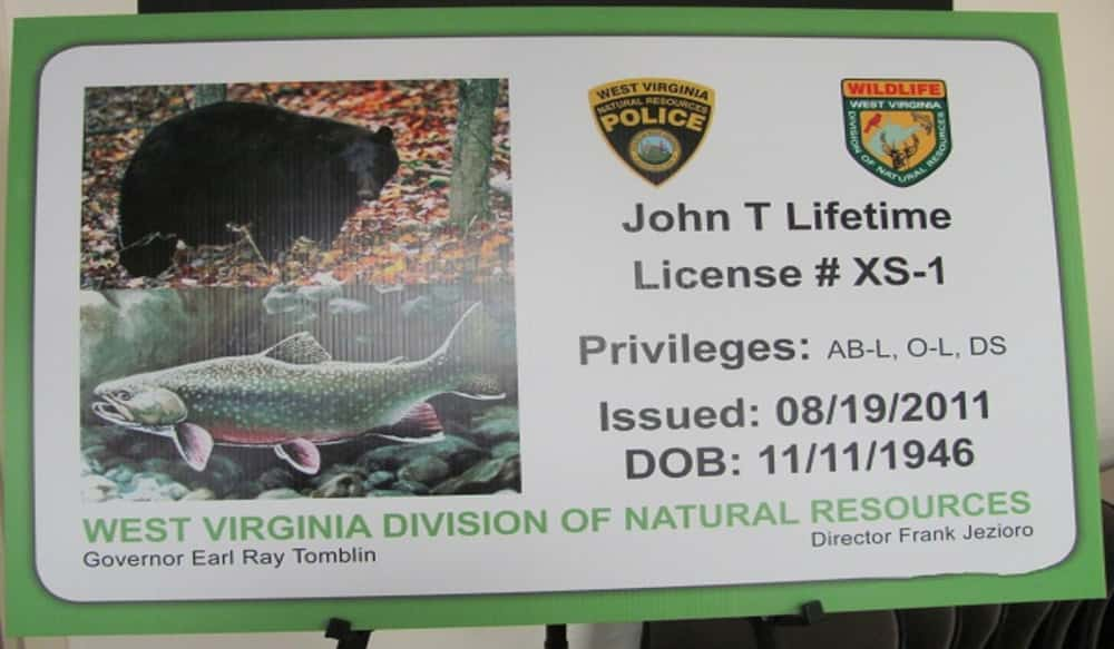new senior lifetime hunting and fishing license available in west