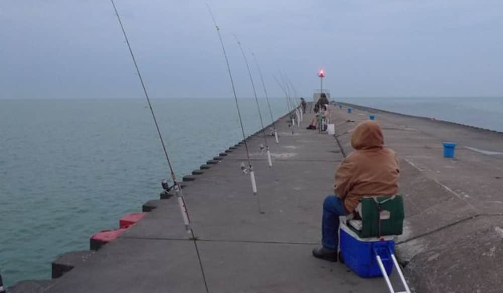 Pier Fishing Peerless Michigan Whitefish