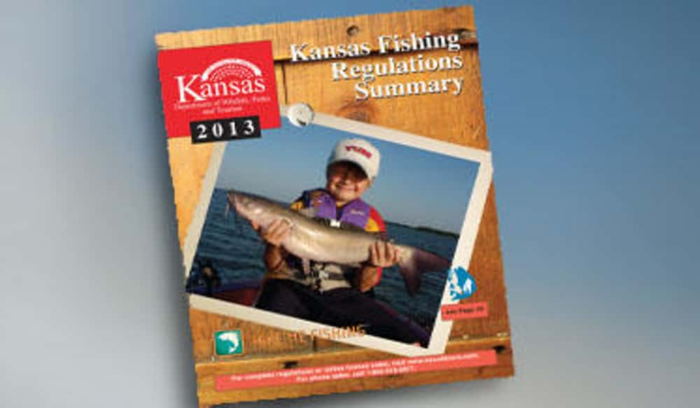 Kansas 2013 fishing regulations summary available now for Kansas state fishing license