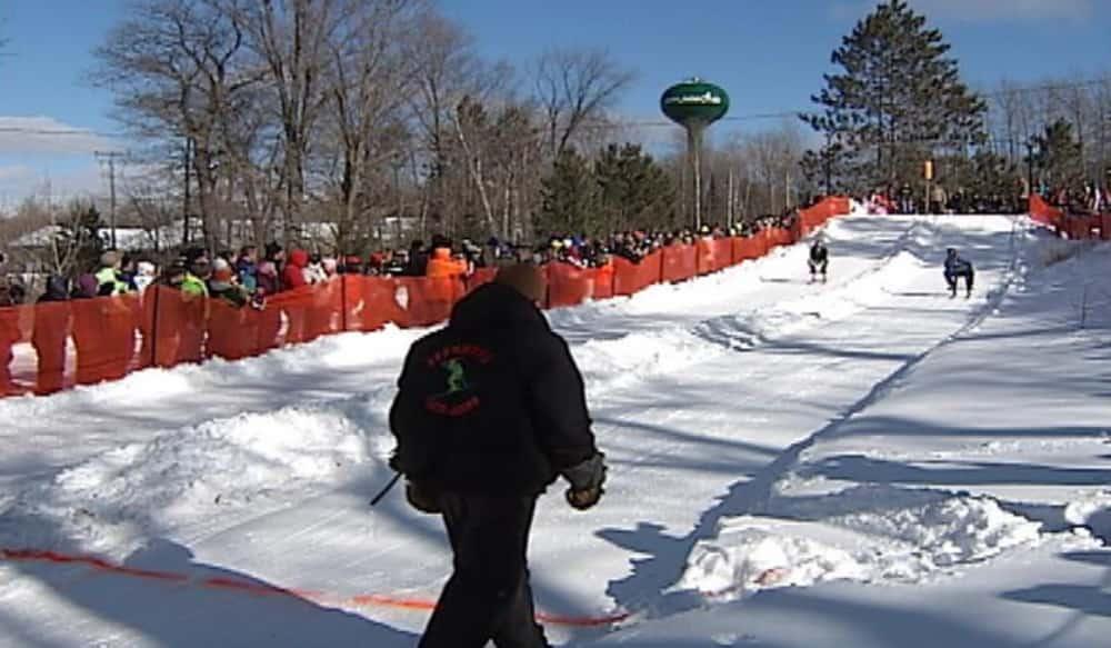 Wisconsin Bar Stool Ski Races Raise Money For Local