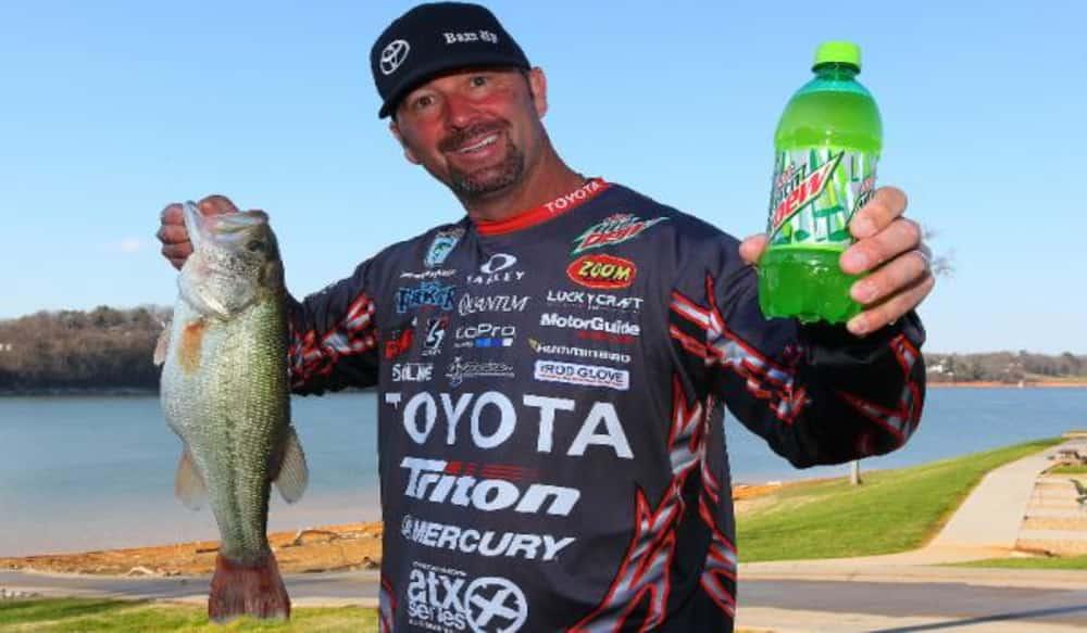 diet mountain dew sponsors bassmaster series including angler