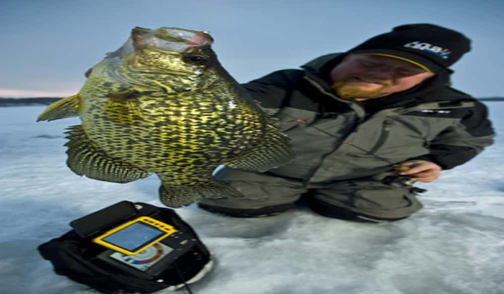 Ice legend brian bro brosdahl makes tour stop at gander for Gander mountain ice fishing