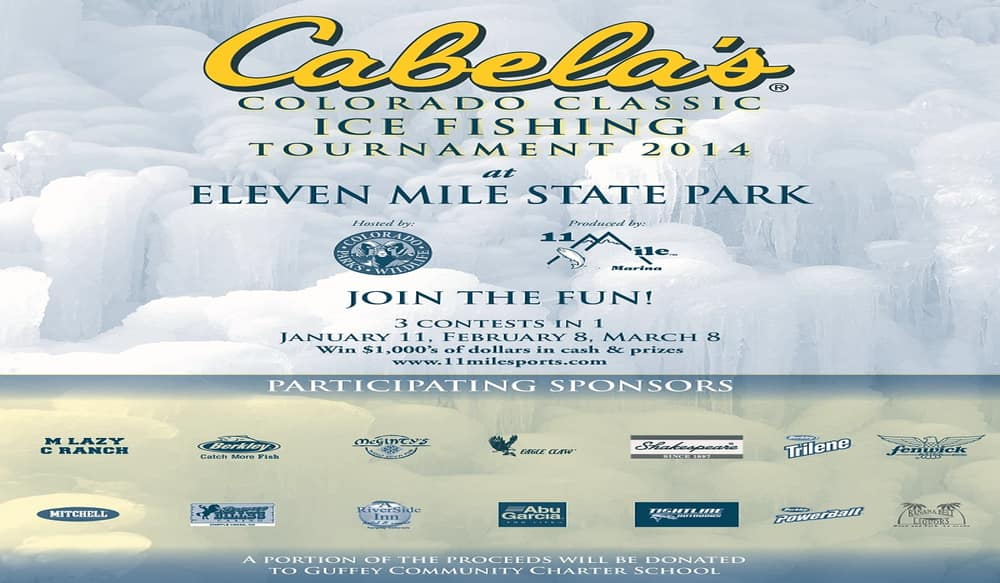 Cabela s sponsors ice fishing tournament at eleven mile for Small fishing sponsors