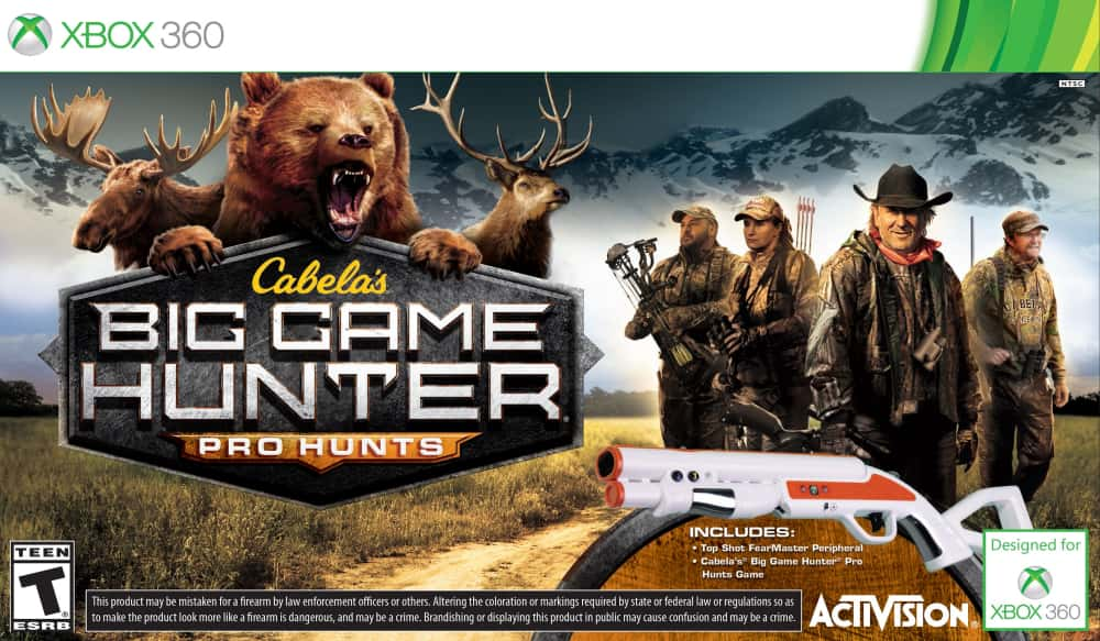 Hunting Games For Xbox 360 : Cabela s big game hunter pro hunts for xbox