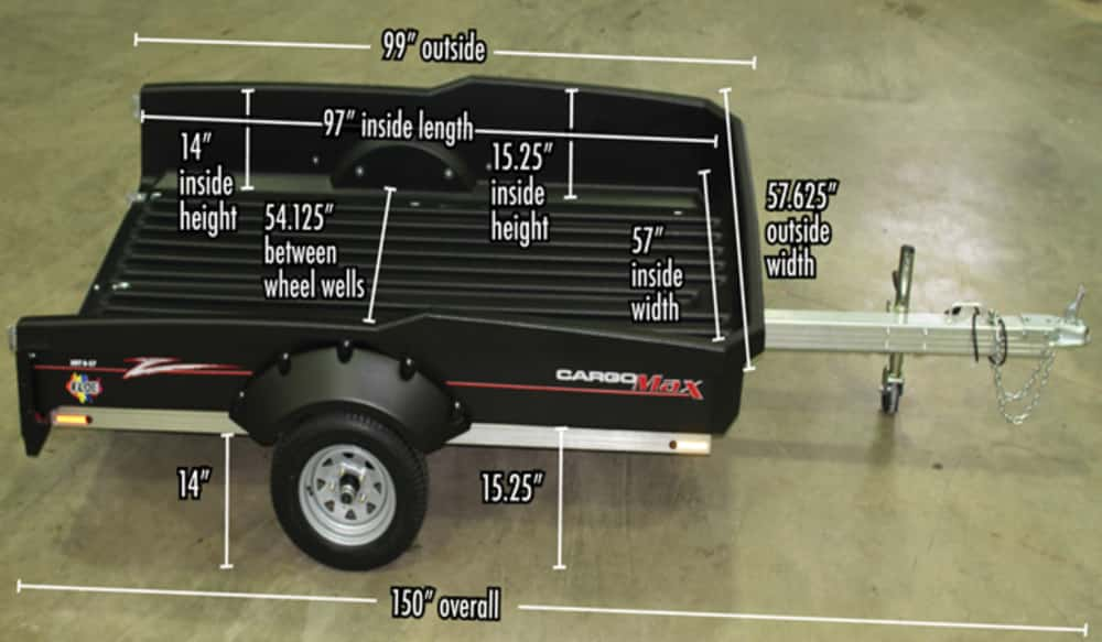 FLOE Cargo Max XRT 8-57 the Best Utility Trailer for Hunting ... on trailer hitch harness, trailer plugs, trailer fuses, trailer generator, trailer brakes, trailer mounting brackets,