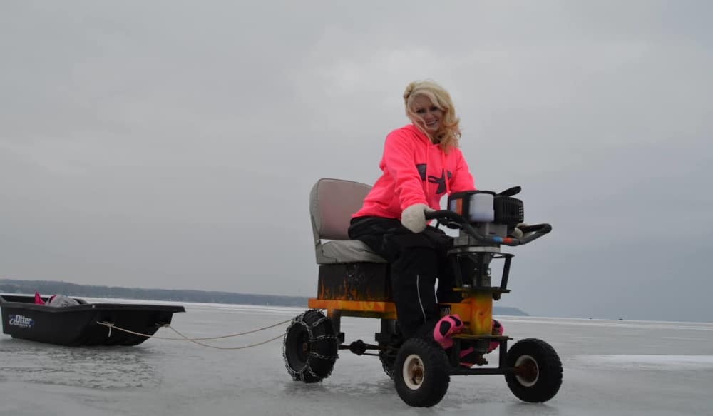 Ice Fisherman Develops Ice Auger That Doubles as Go-cart | OutdoorHub