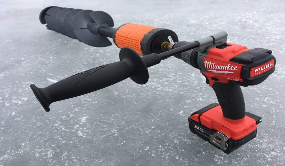 K-Drill Auger + Milwaukee M18 = Ice Fishing Game Changer | OutdoorHub