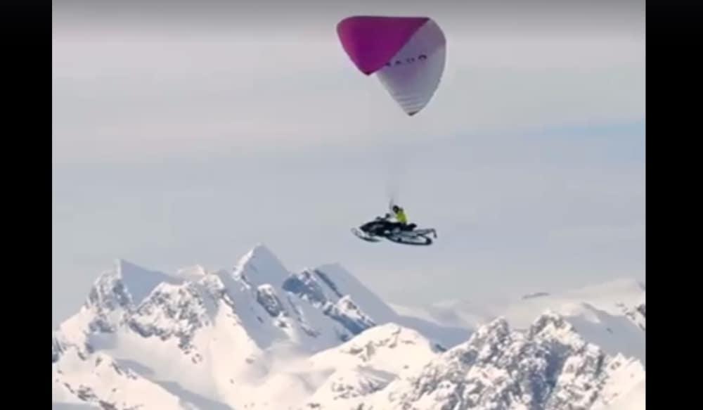 Video: Snowmobile + Hang Glider = Epic Mountain Adventure | OutdoorHub