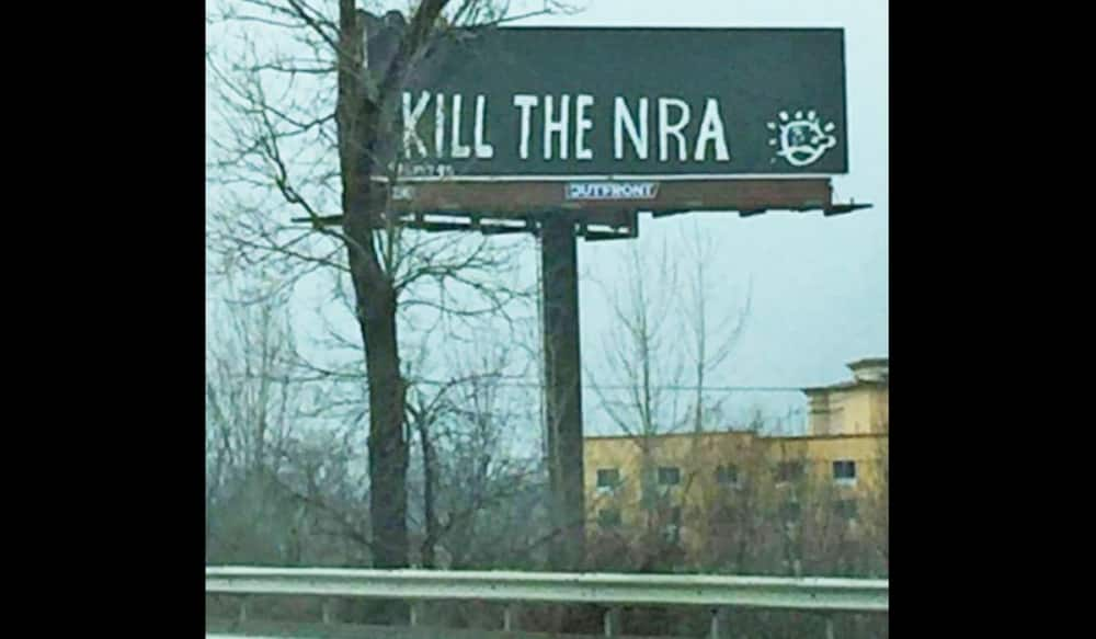 'Kill The NRA' - Vandalized Billboard Sends Sick Message To Second Amendement Supporters