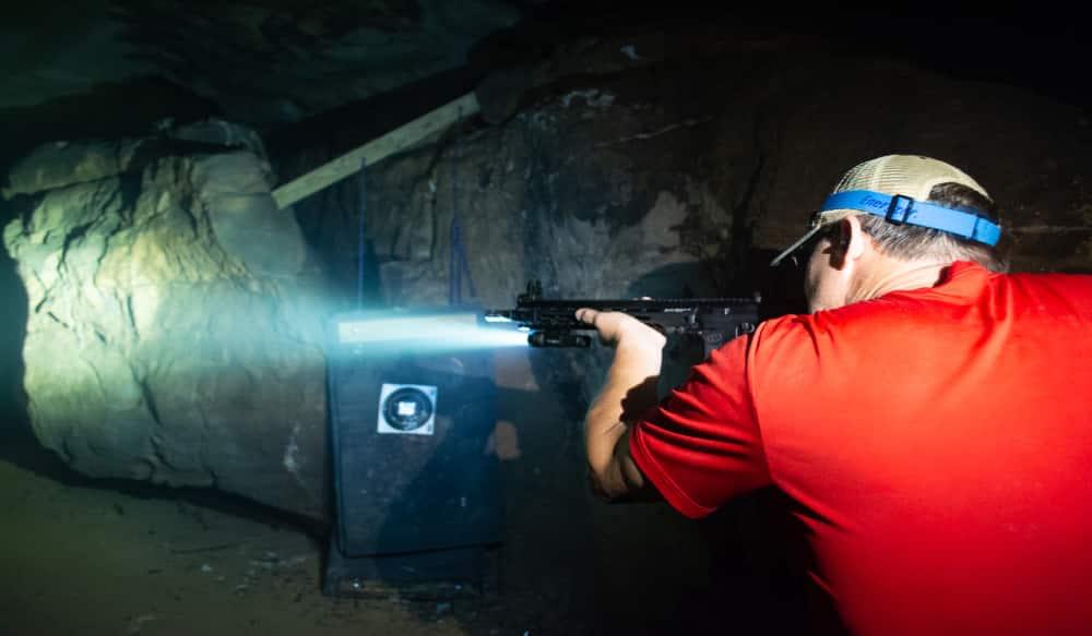 Illuminating A Black Hole With Crimson Trace Weapon Lights