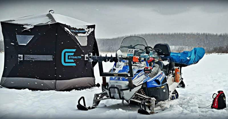 Modern gear for the mobile ice angler outdoorhub for Ice trek fish house