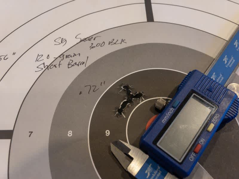 Accuracy from the Aero upper was just fine with this ammo, at least compared to previous ammo tests with the same upper. I lated adjusted the scope to put the shots right on the bullseye for a 50-yard zero.