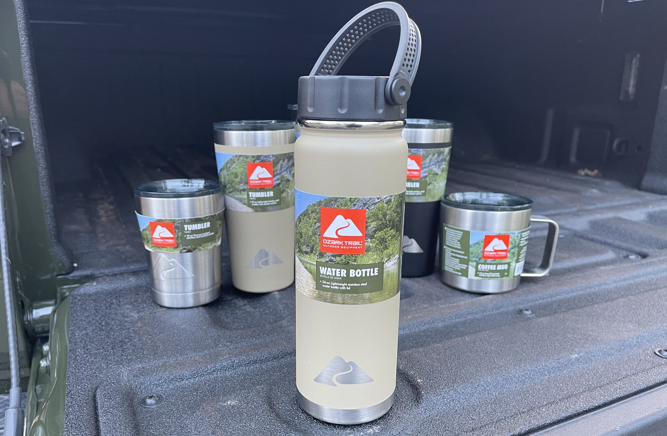 Ozark Trail 24 oz Black Light Weight Stainless Steel Water Bottle