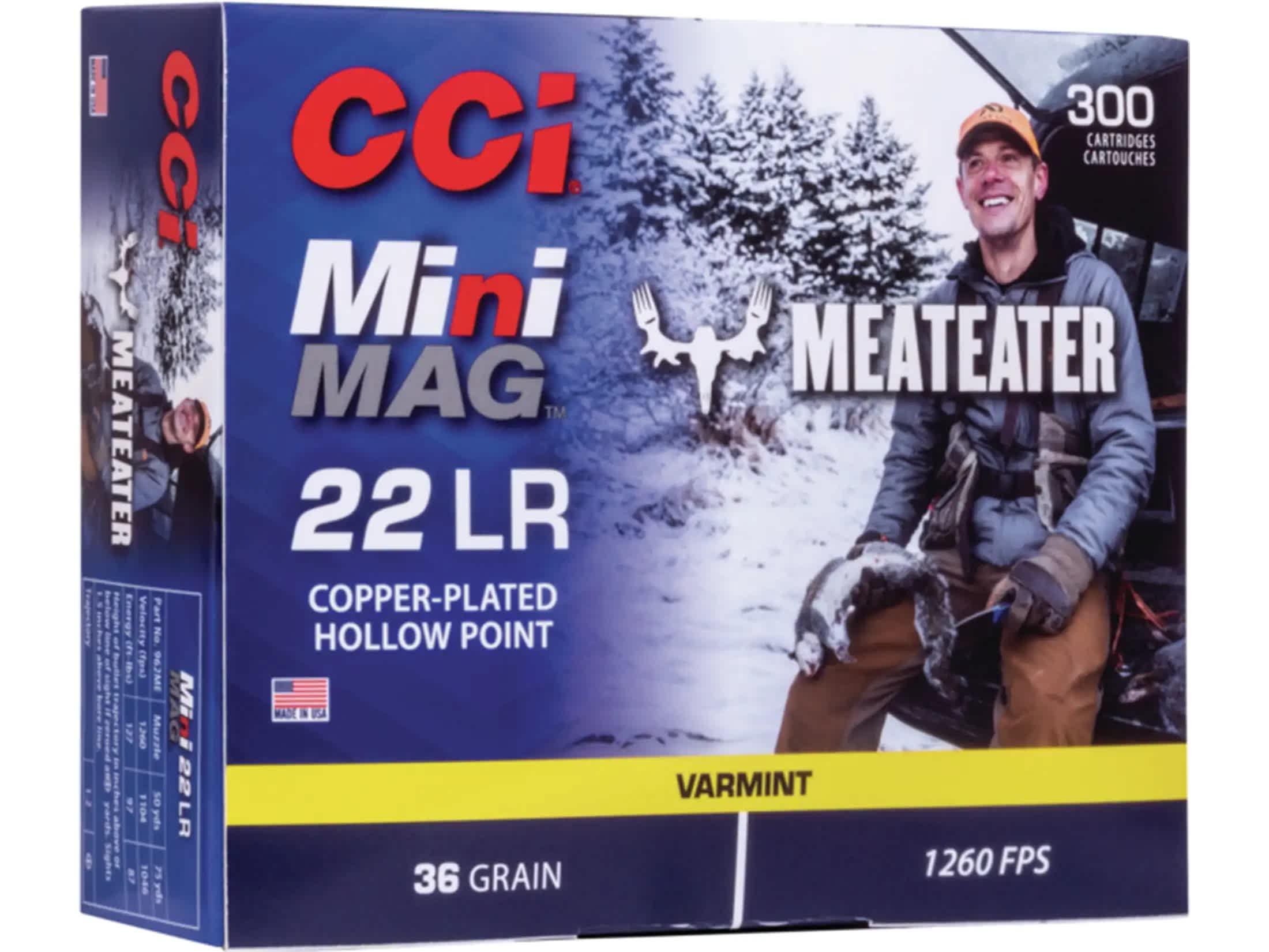 CCI - MEAT EATER 22 LONG RIFLE MINI MAG AMMO
